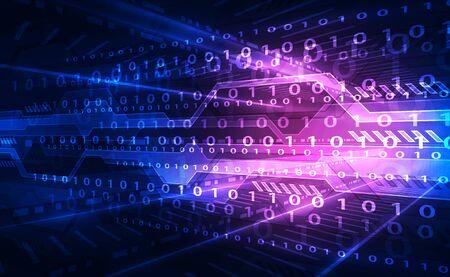 Streszczenie futurystyczne tło technologii cyfrowej. Ilustracja wektorowa