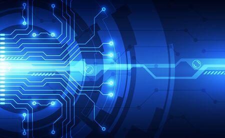 Tecnología futurista abstracta Ilustración de vector
