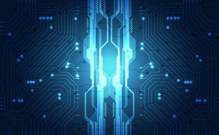 Vector Concetto futuristico astratto del fondo di tecnologia, alta illustrazione digitale