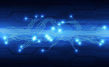 Vector circuit board background technology. illustration Vektoros illusztráció