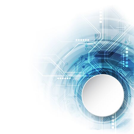 Sistema global de la placa de circuito futurista abstracto del vector