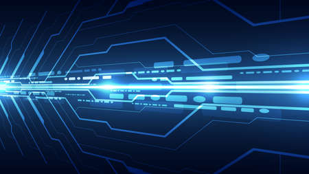Vector Abstract futuristic high speed, Illustration high digital technology blue color Illustration