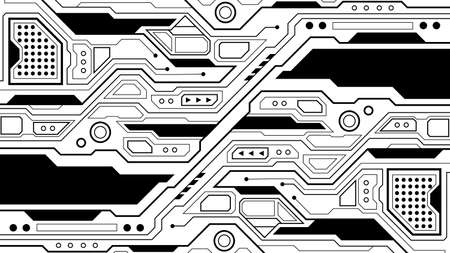 circuit board background texture of technology, vector illustration