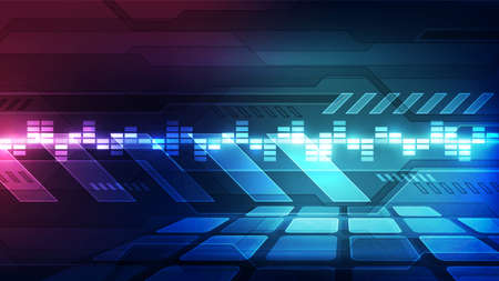 Vector Abstract futuristic technology background concept, Illustration high digital Illustration