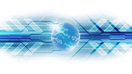 Digital global technology concept