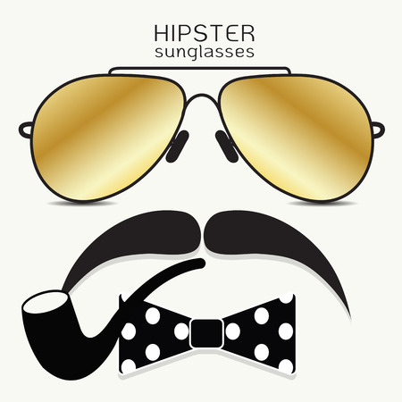 mustaches: Hipster Vector Icon Set, Mustaches, Bicycle Collection. Vector illustration. Illustration