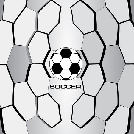 pelota de futbol: Bal�n de f�tbol. Vector F�tbol.