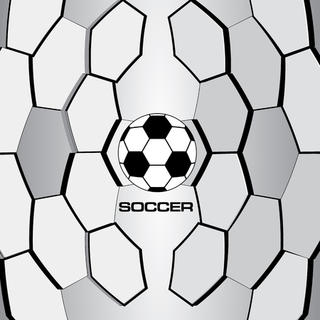 ball game: Soccer ball. Football Vector.