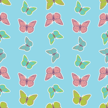 Butterfly vector pattern. Can be used for wallpaper, pattern fills, textile, web page background, surface textures, Image for advertising booklets, banners, flyers. Illustration