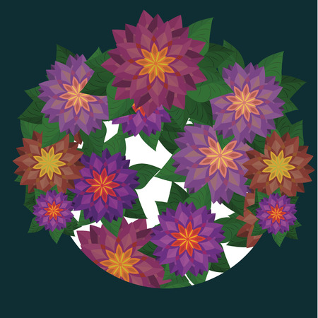 Flower vector background template. Can be used for wallpaper, pattern fills, textile, web page background, surface textures, Image for advertising booklets, banners, flyers.