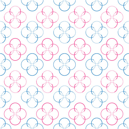 Seamless colorful abstract modern circles texture, background pattern