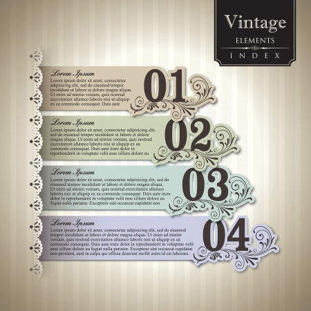 Vintage style Bar Graph Element Vector