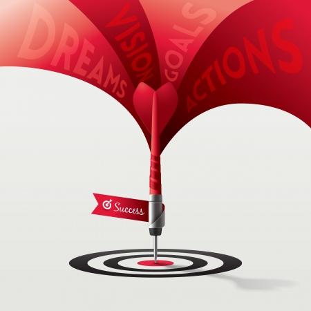 target business: Dart Target Concepto Negocios Ilustraci�n