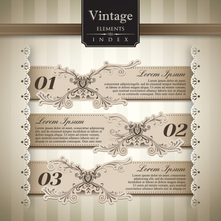 intricacy: Vintage style Bar Graph Element