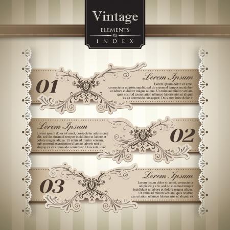 Vintage style Bar Graph Element