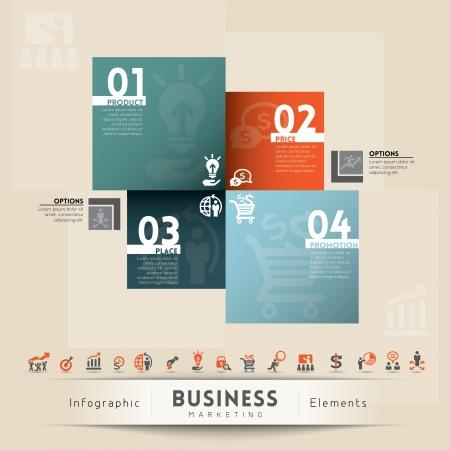 4p: Business Marketing Concept Illustration  Illustration