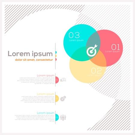 Cerchio forma astratta Layout Design