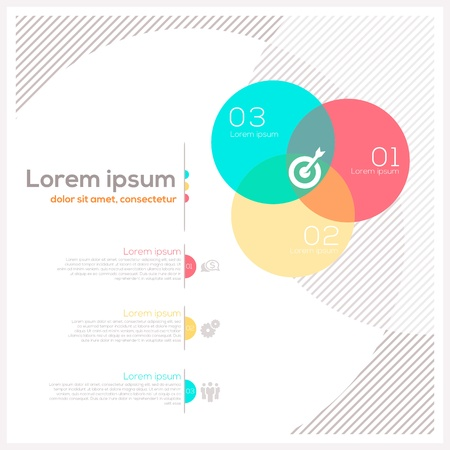 computer graphic design: Circle Shape Abstract Design Layout