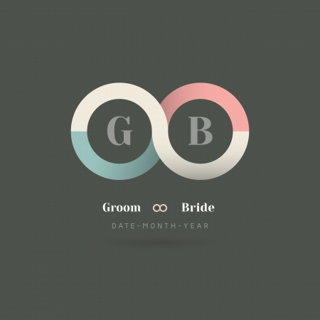 Minimalism Infinity Symbol Wedding Invitation Template Vector