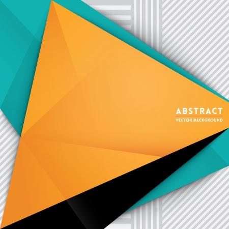 マニュアル: Web デザインのための三角形の図形の背景を抽象化印刷プレゼンテーション