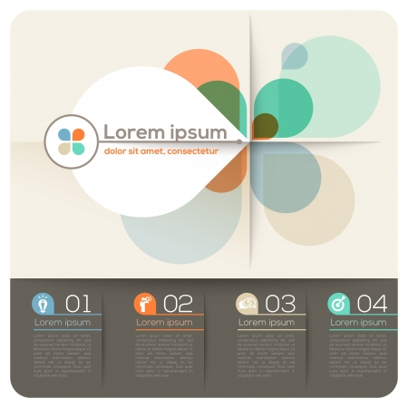 네 개의 꽃잎 모양 추상 디자인 레이아웃 프리젠 테이션  브로셔  웹 사이트에 대한