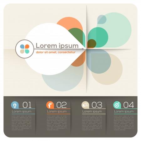 Cuatro Petal Forma Resumen de diseño Diseño de presentación / Folletos / Sitio Web Ilustración de vector