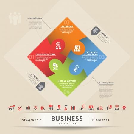 Business Teamwork Concept Illustration  Vector