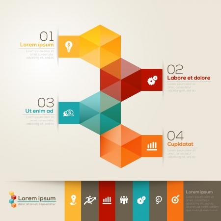 elements: Isometric shape modern style design layout