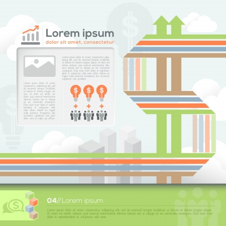 dollar sign: Vector Template for Info-graphics  workflow layout Business plan Diagram  Brochure layout