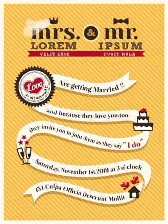 invitaci�n matrimonio: Plantilla de tarjeta de invitaci�n de la boda