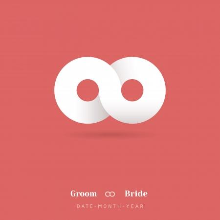 at symbol: Minimalism Infinity Symbol Wedding Invitation Template