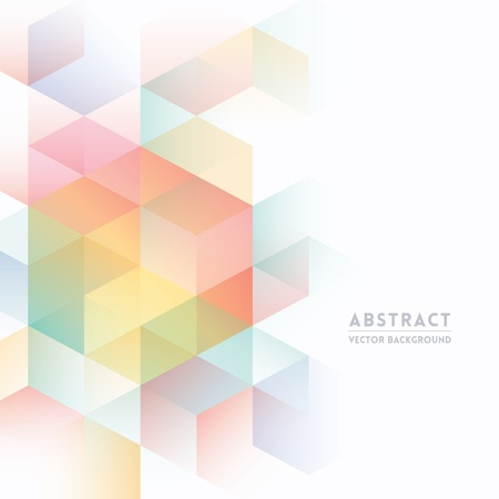 Abstract Isometric Shape Background for Business / Web Design / Print / Presentation Vector