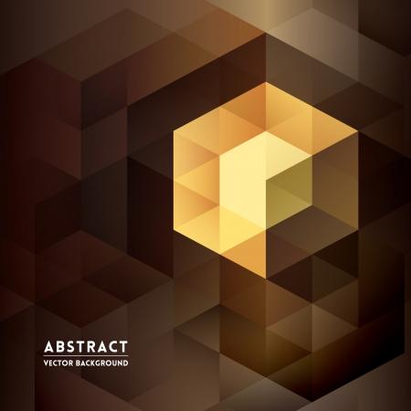 Abstrakt isometrischen Form Background for Business / Web Design / Print / Präsentation Standard-Bild - 21948347