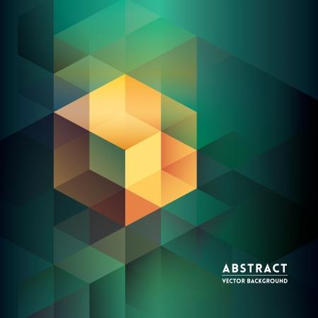 Abstracte Isometrische Shape Achtergrond voor Business / Web Design / Print / Presentatie Vector Illustratie