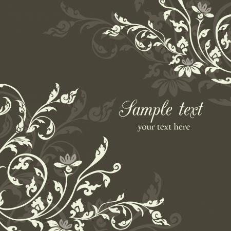 Asian Style vintage design floral, modèle, fond Banque d'images - 21948379