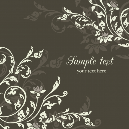 wedding invitation: Asian Style Vintage floral design pattern background
