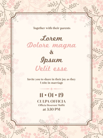 bruiloft uitnodiging kaart sjabloon