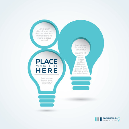 Light Bulb Shape Minimal style Abstract Design Template Layout