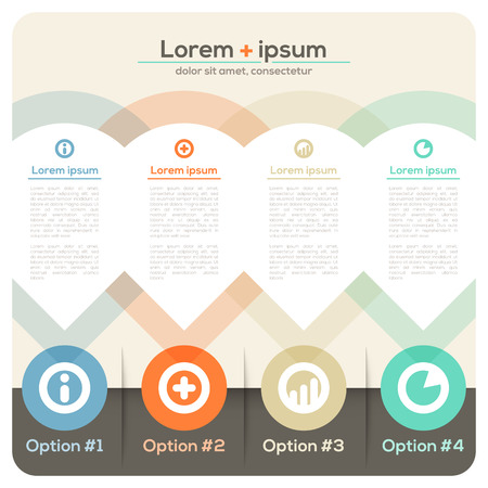Four Columns Abstract Design Layout for Presentation   Brochure   Website   Magazine Illustration