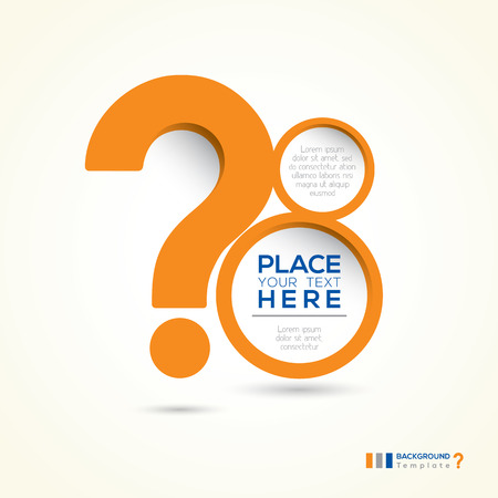 why: Question Mark Shape Minimal style Abstract Design Template Layout Illustration