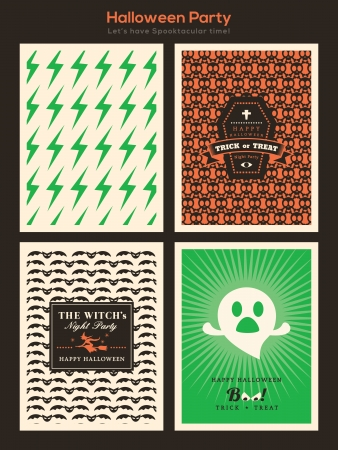 halloween party: Halloween Party background for invitation card  poster  flyer  web banner