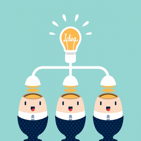 Business people brainstorming for Best Idea Stock Vector - 22774265