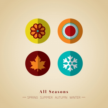 4 leaf: four seasons icon symbol vector illustration Illustration