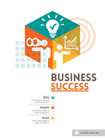 success concept: Cubic Business Success concept background design layout for poster cover brochure