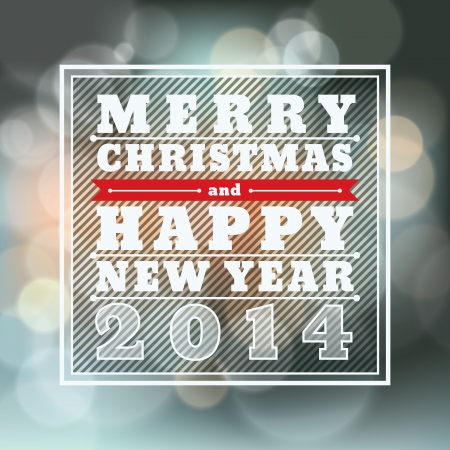 frohes neues jahr: Frohe Weihnachten und Happy New Year Vector Hintergrund f�r die Karte