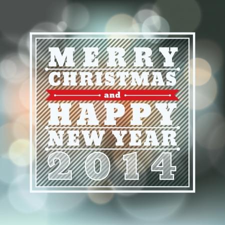 nieuwjaar: Vrolijk Kerstfeest en Gelukkig Nieuwjaar Vector Achtergrond voor de kaart Stock Illustratie