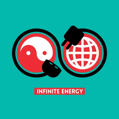 Infinite Energy concept illustration Vector