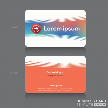 name card: Business cards Name card Design Template Illustration