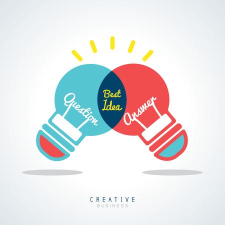 Best Idea Creative light bulb Vector Concept Illustration Vector
