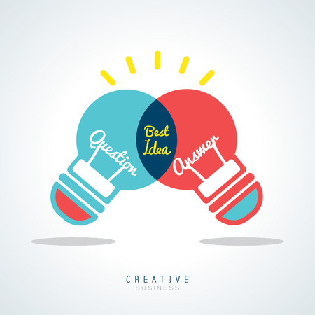 business concept: Best Idea Creative light bulb Vector Concept Illustration